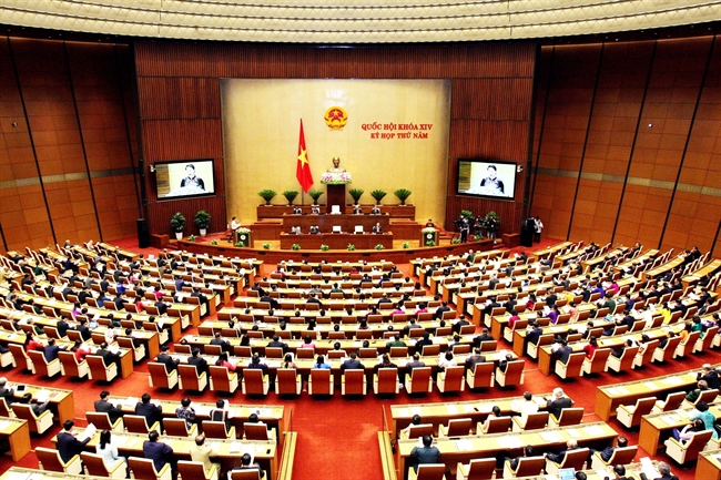 The 14th-tenure National Assemblys fifth session opened in Hanoi on May 21. Besides law making the National Assembly will devote time to supreme supervision and other important issues. In the photo: Panoramic view of the session. Photo: Nguyen Dan/VNA.