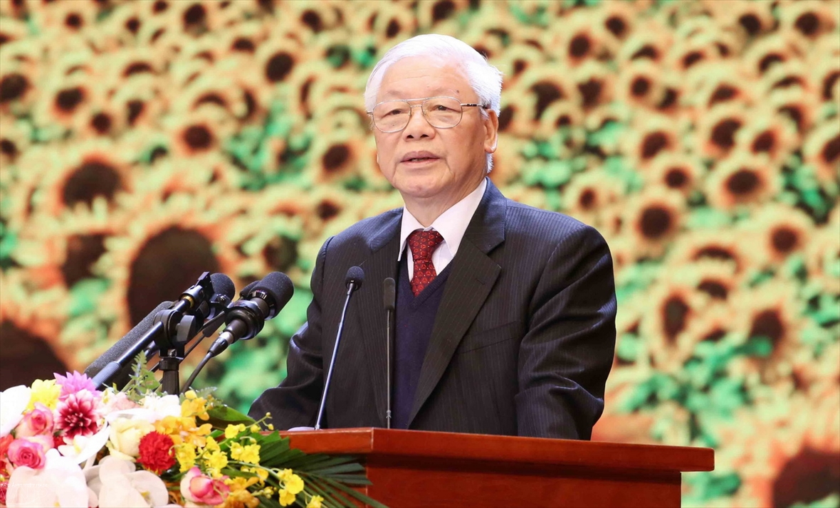 Speech by Party General Secretary and State President Nguyen Phu Trong at the Ceremony in Honor of the 90th Anniversary of the Founding of the Communist Party of Vietnam