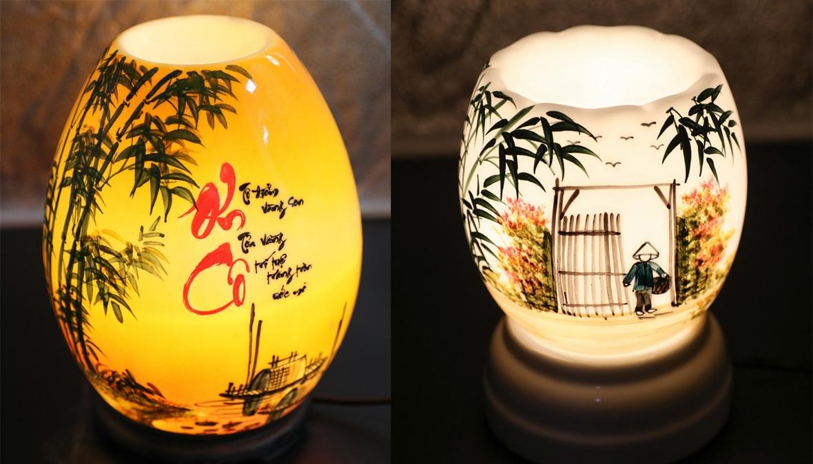 밧짱(Bát Tràng)발광 도자기 램프