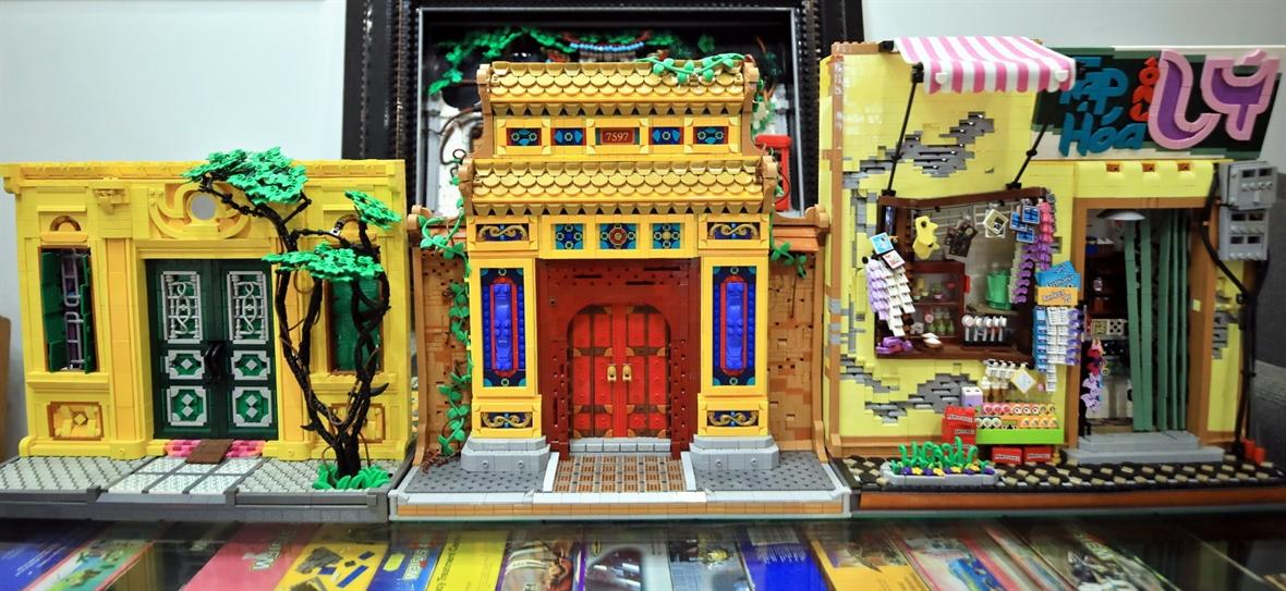 Đình chùa Việt Nam được tái hiện bằng những mảnh ghép lego