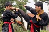 Artes marciales del pueblo étnico Mong en Hanoi