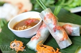 Rollos de primavera frescos de Saigón