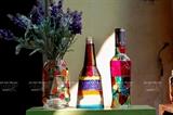 Creaciones artísticas con botellas de desecho