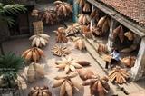 Le village de vannerie de nattes de Thu Sy