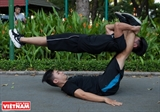 Youngsters Enjoy Street Workout