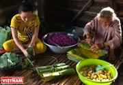 Banh Tet La Cam tradicional pastel de arroz