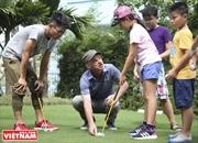 Место где обучают вьетнамских талантов игры в гольф