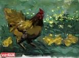 G39、丁酉(ひのととり)年を歓迎し、描いた鶏の絵