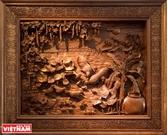 越南本色木雕画
