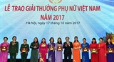 Вручена премия Женщина Вьетнама 2017 года