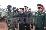 Tổng Bí Thư thăm kiểm tra công tác huấn luyện sẵn sàng chiến đấu