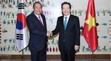 Постоянный Вице-премьер Вьетнама встретился с Председателем НС Республики Корея
