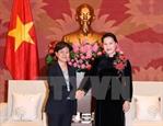 Chủ tịch Quốc hội Nguyễn Thị Kim Ngân tiếp Đại sứ Singapore