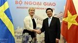Вьетнам и Швеция согласились содействовать дальнейшему развитию двусторонних отношений