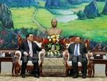 Lãnh đạo Đảng Nhà nước Lào tiếp Đoàn đại biểu thành phố Hà Nội