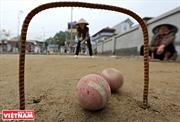 スアン・バック(Xuan Bach)村における老人のクロッケーチーム
