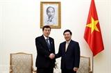 Вице-премьер Вьетнама Фам Бинь Минь принял делегацию японских парламентариев