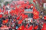 ベトナム国旗と数100万の心