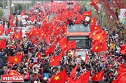 Millions of hearts one red of national flag