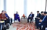 Thủ tướng Nguyễn Xuân Phúc tiếp Tổng Giám đốc IMF Christine Lagarde