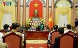 ВрИО президента Вьетнама приняла делегацию лучших крестьян страны 2018 года