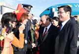 Thủ tướng Nguyễn Xuân Phúc đến Brussels bắt đầu tham dự ASEM 12