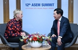 Фам Бинь Минь провел двусторонние встречи в кулуарах 12-го саммита АСЕМ