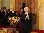 Tổng Bí thư Chủ tịch nước gặp mặt Văn phòng Chủ tịch nước