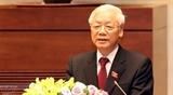 Поздравительные телеграммы Генсек ЦК КПВ Президенту СРВ Нгуен Фу Чонгу