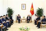 Thủ tướng Nguyễn Xuân Phúc tiếp Chủ tịch Tập đoàn SK Group của Hàn Quốc