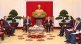 Заведующий Отделом ЦК КПВ по экономическим вопросам принял Вице-президента Google по глобальным вопросам
