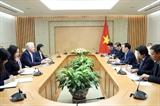 ឧបនាយករដ្ឋមន្ត្រីវៀតណាមលោក Vuong Dinh Hue ជួបធ្វើការជាមួយ Clermont Group ស្ដីពីការអភិវឌ្ឍធនាគារឌីជីថល