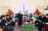 Trưởng ban Dân vận Trung ương chúc mừng Giáng sinh Giáo phận Bùi Chu
