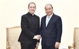 នាយករដ្ឋមន្ត្រីវៀតណាមលោក Nguyen Xuan Phuc ទទួលជួបជាមួយអនុរដ្ឋមន្រ្តីការបរទេសបុរីវ៉ាទីកង់