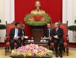 Thường trực Ban Bí thư tiếp Đoàn Đảng USDP của Myanmar thăm Việt Nam