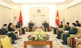 Bộ trưởng Bộ Quốc phòng Ngô Xuân Lịch tiếp Đại sứ Trung Quốc