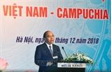 Премьер-министры Вьетнама и Камбоджи приняли участие во вьетнамо-камбоджийском бизнес-форуме