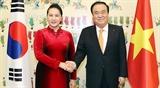 Председатель НС Вьетнама и Председатель НС Республики Корея провели переговоры