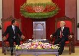 Tổng Bí thư Chủ tịch nước Nguyễn Phú Trọng tiếp Thủ tướng Campuchia