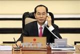 ប្រធានរដ្ឋវៀតណាមលោក Tran Dai Quang ធ្វើការសន្ទនាតាមទូរស័ព្ទជាមួយប្រធានាធិបតីអាមេរិកលោក Donald Trump