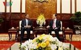 Чан Дай Куанг принял посла Мозамбика в связи с окончанием срока его работы во Вьетнаме