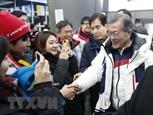 Tỷ lệ ủng hộ Tổng thống Hàn Quốc tăng nhờ thành công của Olympic