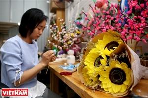 ភាពស្រស់ស្អាតមកពីផ្កាធ្វើពីក្រដាស Flower Farm