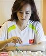 Joven maestra del ajedrez chino