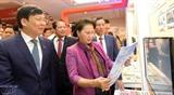 Председатель НС Вьетнама посетила Национальный фестиваль прессы 2018