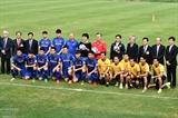 Президент Республики Корея встретился с членами молодёжной сборной Вьетнама по футболу U23