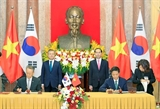 Việt Nam-Hàn Quốc quyết tâm nâng kim ngạch thương mại lên 100 tỷ USD