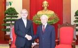អគ្គលេខាបក្សលោក Nguyen Phu Trong អញ្ជើញទទួលជួបជាមួយប្រធានរដ្ឋសភាអ៊ីរ៉ង់ លោក Ali Ardeshir Larijani