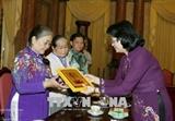 Данг Тхи Нгок Тхинь приняла представителей провинции Тиензянг имеющих заслуги перед Отечеством