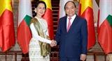 Премьер-министр Вьетнама провел переговоры с Государственным советником Мьянмы